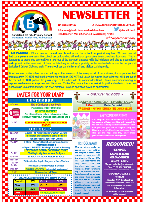 Newsletter 12.9.19 Page 1