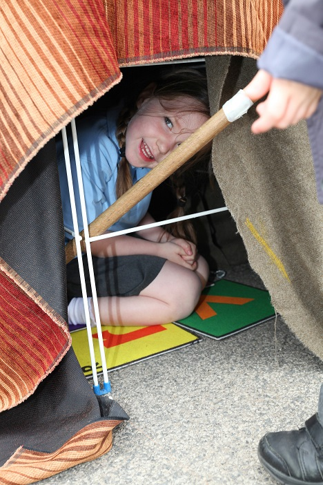 Making a den!