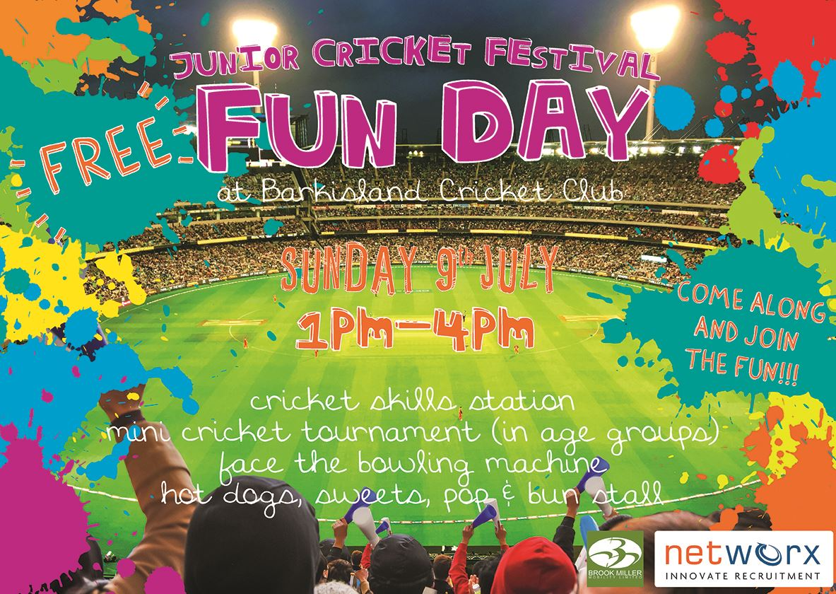 Barkisland Cricket Club Junior Cricket Festival Fun Day