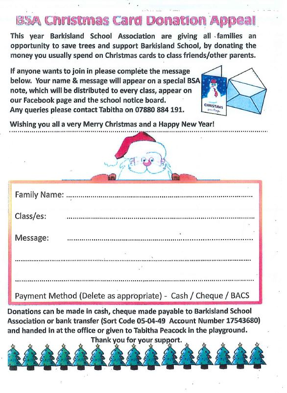 BSA Christmas Card Donation Appeal