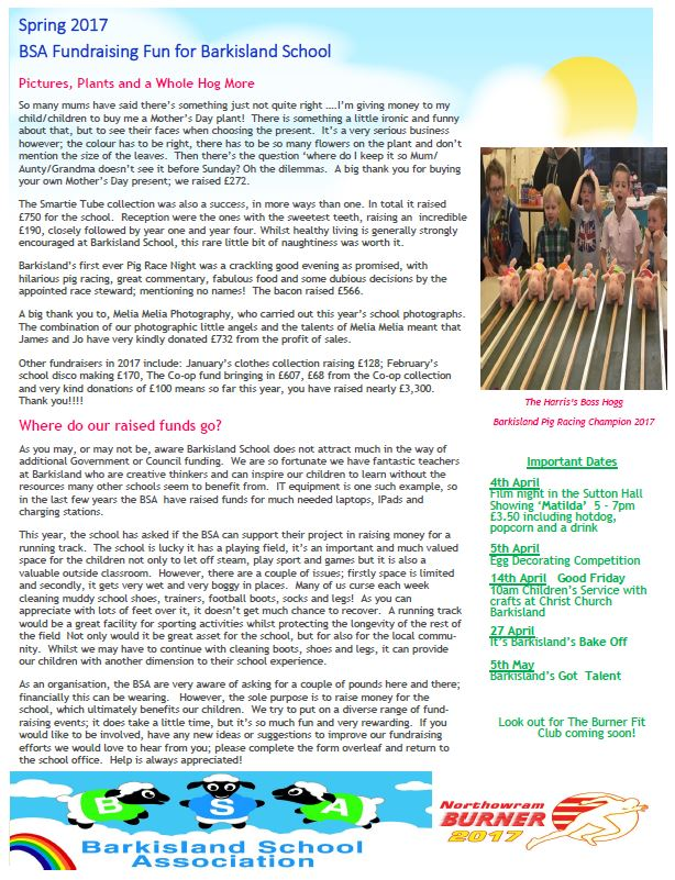 BSA Spring Newsletter 2017