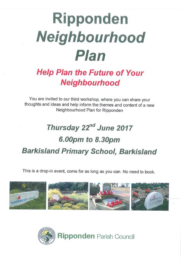Ripponden Neighbourhood Plan Drop In